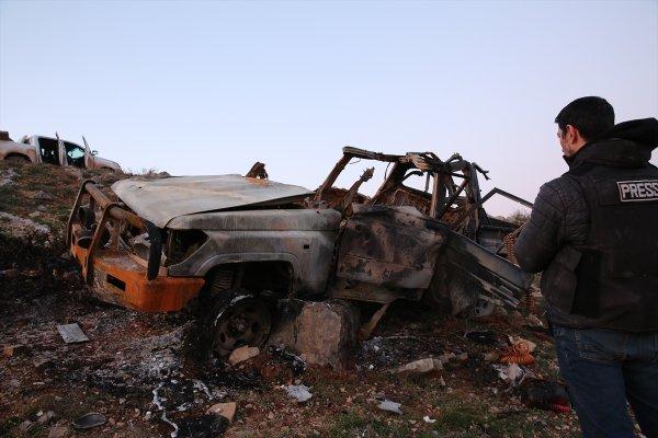 Afrin'de canlı bomba aracı tank atışıyla vuruldu