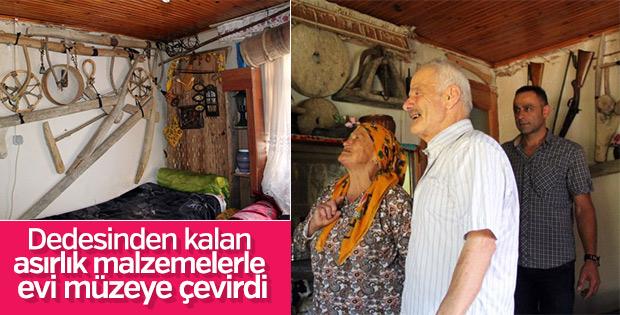 Köy evini müzeye dönüştürdü