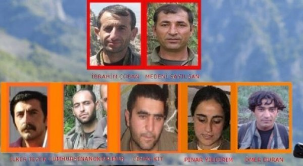 Tunceli'de öldürülen ödüllü listedeki teröristler