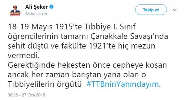 CHP-HDP ortaklığı: Türk Tabipler Birliği'nin yanındayız
