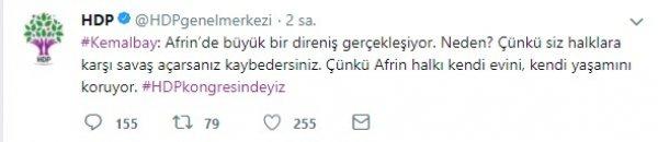 HDP 'Afrin'de direniş var halklar kendini koruyor' diyor