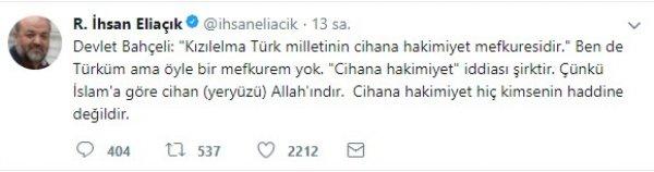Devlet Bahçeli'den İhsan Eliaçık'a: Kripto münkir