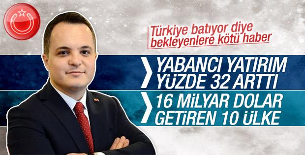 Türkiye'ye 2015'te 16 milyar dolar yabancı yatırım geldi