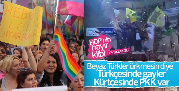 HDP'nin referandum şarkısında PKK bayrakları