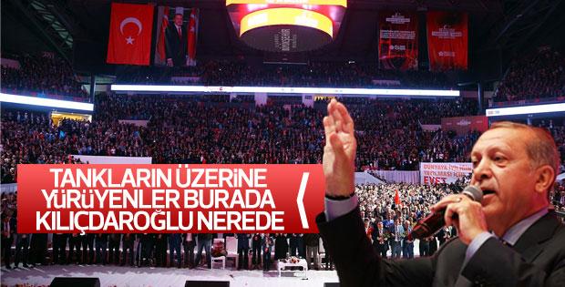 Erdoğan 15 Temmuz Şehit Gaziler programında konuştu