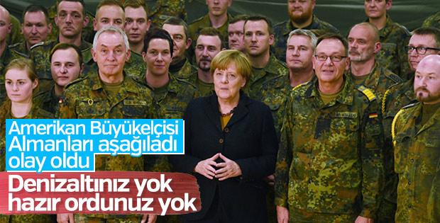 ABD büyükelçisinin Almanya'yı eleştirmesi tepki çekti