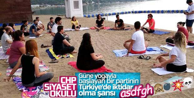 CHP'lilerin yoga dersi