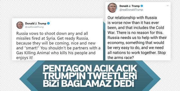 Pentagon: Trump'ın tweetlerini bize sormayın