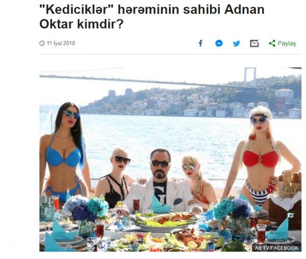 Adnan Oktar Azerbaycan basınında