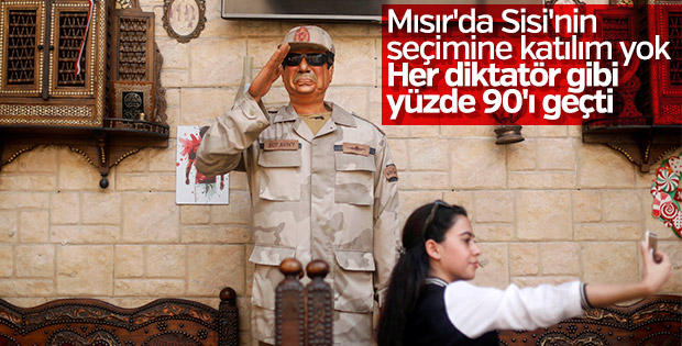 Mısır'da seçimin galibi: Sisi