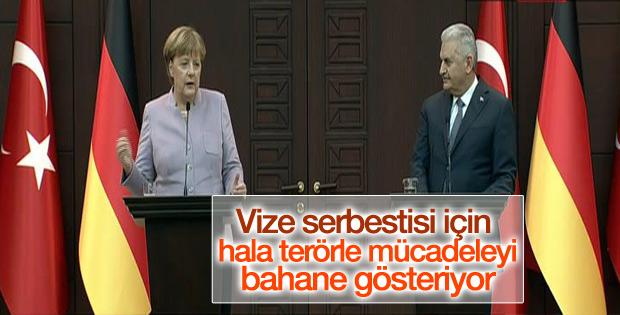 Başbakan Yıldırım ve Merkel'den ortak açıklama