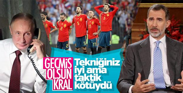 Putin Dünya Kupası maçı sonrasında İspanya Kralı'nı aradı