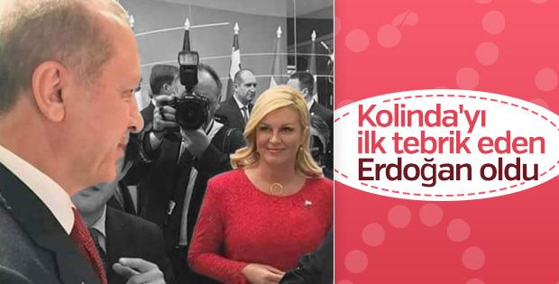 Başkan Erdoğan'dan Kolinda Kitaroviç'e maç tebriği