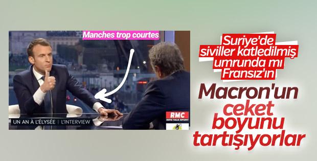 Fransa'nın gündemi: Macron'un ceketi gömleği