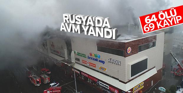 Rusya'da AVM yangınında 64 kişi hayatını kaybetti