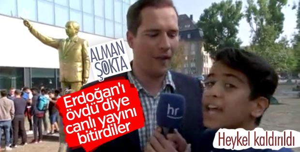 Alman muhabiri şoke eden Erdoğan hayranı çocuk