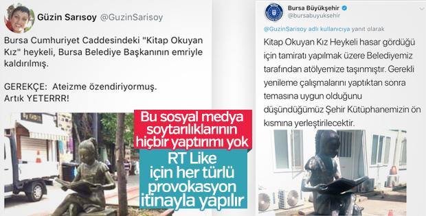 Bursa'da heykel üzerinden provokasyon