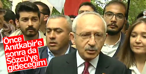Kemal Kılıçdaroğlu Ankara'daki Hürriyet yürüyüşünde