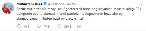 İnce'den Kılıçdaroğlu'na: Milletten nasıl oy alacaksınız