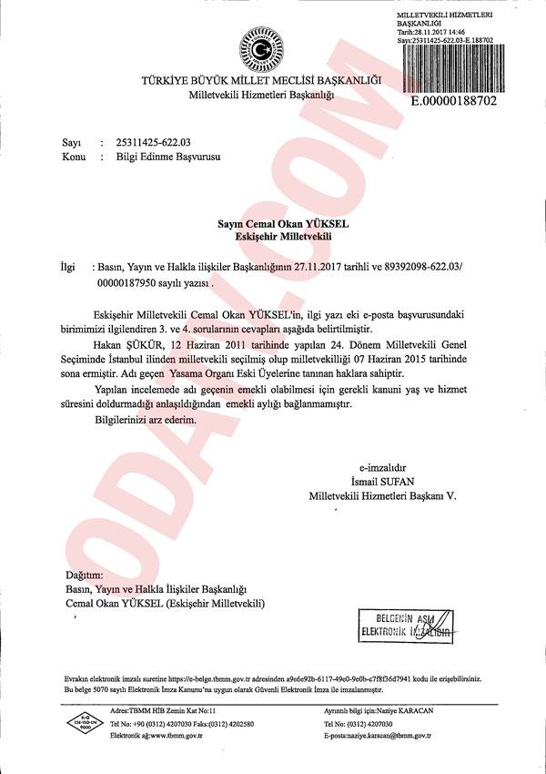 CHP'li vekilin teklifi: Hakan Şükür için KHK çıkarılsın