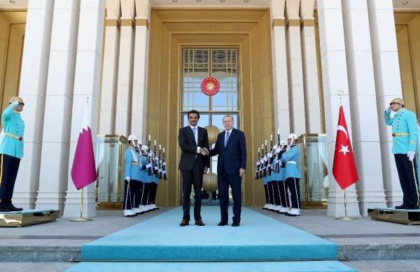 Başkan Erdoğan Katar Emiri ile görüştü