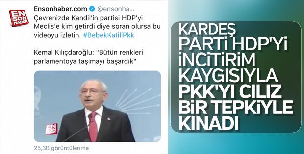 Kılıçdaroğlu PKK'yı kınadığını söyledi