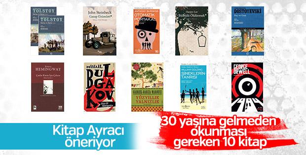30 yaşına gelmeden okunması gereken 10 kitap