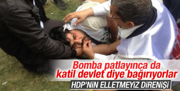 Bakırköy'de HDP'liler polise saldırdı