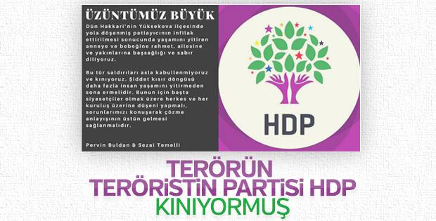 HDP yüzsüzlüğü: Hakkari'deki saldırıyı kınadılar