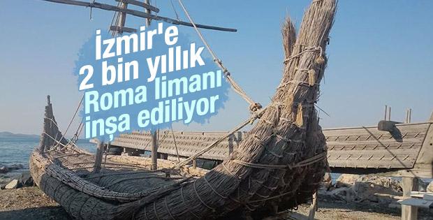 İzmir'e 2 bin yıllık Roma limanı inşa ediliyor