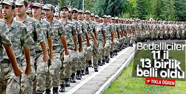 Bedelli askerlik yapanlara eğitim verilecek birlikler