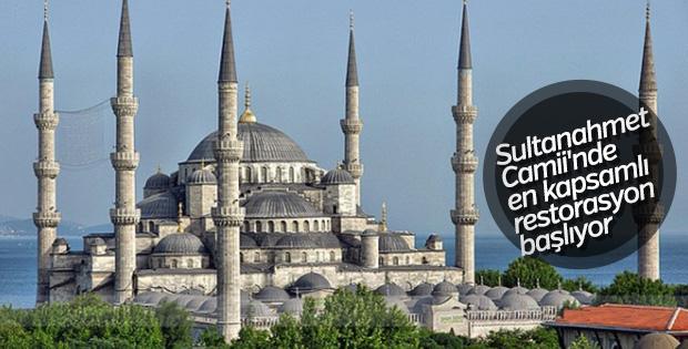 Sultanahmet Camii'nde en kapsamlı restorasyon başlıyor