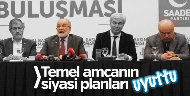 Temel Karamollaoğlu basın toplantısında uyuttu