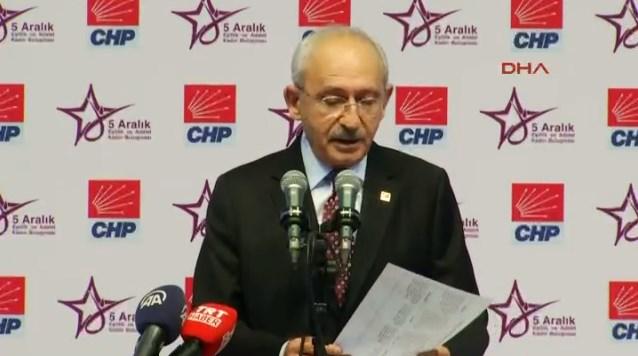 Kemal Kılıçdaroğlu CHP'de Kadın Buluşması'nda