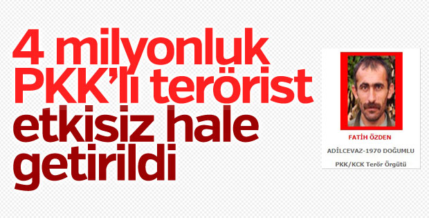 Kırmızı listede aranan terörist etkisiz hale getirildi