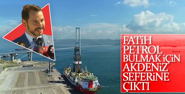 Sondaj gemisi Akdeniz'e uğurlanıyor