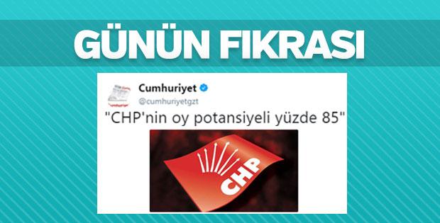 Cumhuriyet'e göre CHP'nin oy potansiyeli yüzde 85