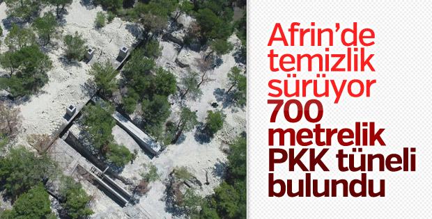 Afrin'de inşası yarım kalan tünel bulundu