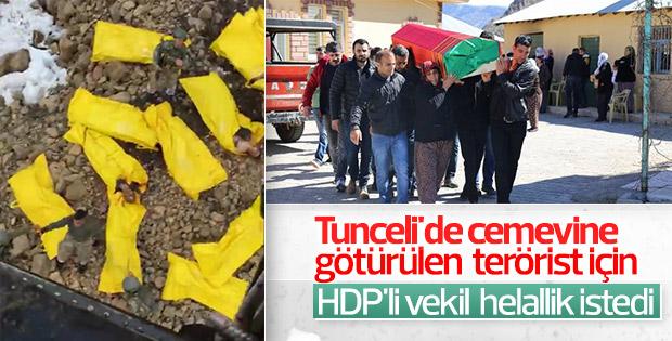 HDP'li vekil öldürülen teröristten helallik istedi