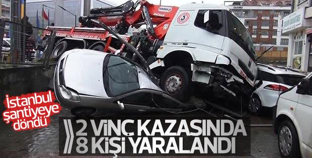 Büyükçekmece ve Maltepe'de vinç kazası