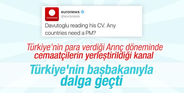Euronewsten Davutoğlu tweeti: Başbakana ihtiyacı olan ülke var mı 77