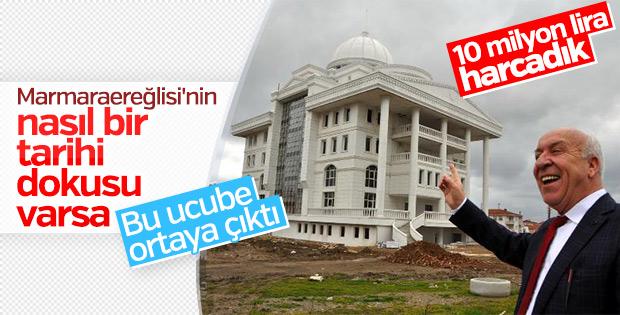 Marmaraereğlisi'ne yapılan belediye binasının maliyeti