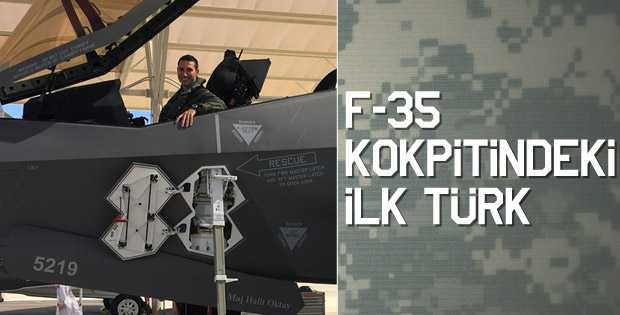 Türk pilot F-35 ile ilk uçuşu yaptı