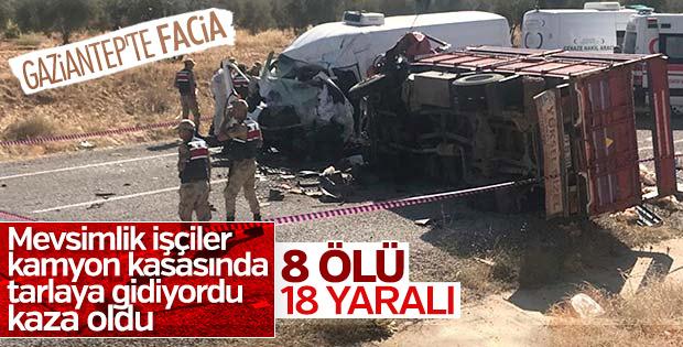 Gaziantep'te feci kaza: 8 ölü