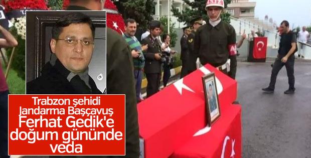 Trabzon'da şehide doğum gününde veda