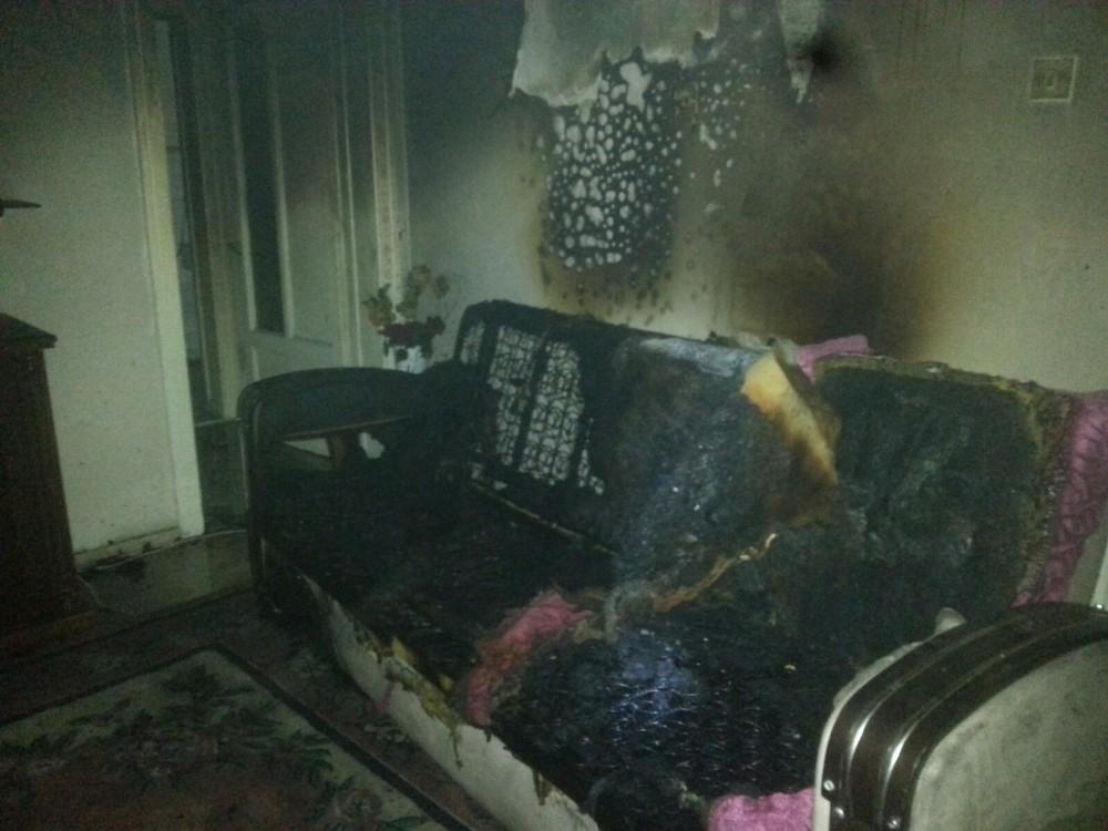 Madde bağımlısı genç evini ateşe verdi