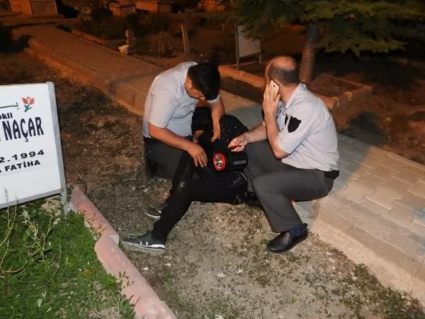 Mezarlıktaki 'gizemli kız' yakalandı