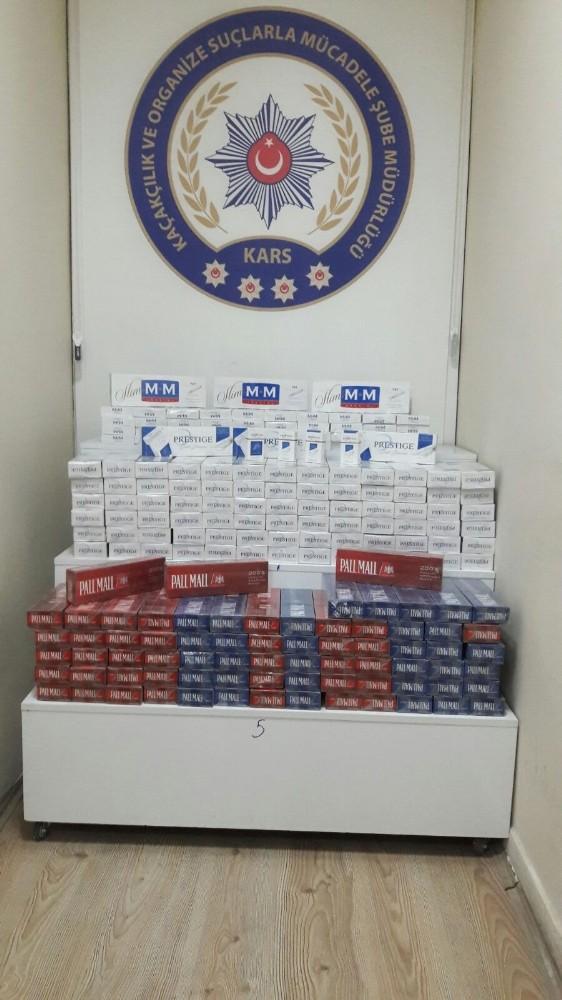 Kars'ta 980 paket kaçak sigara ele geçirildi