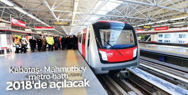 Kabataş- Mahmutbey metro hattında çalışmalar sürüyor