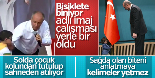 Cumhurbaşkanı Erdoğan ile Muharrem İnce'nin çocuk sevgisi